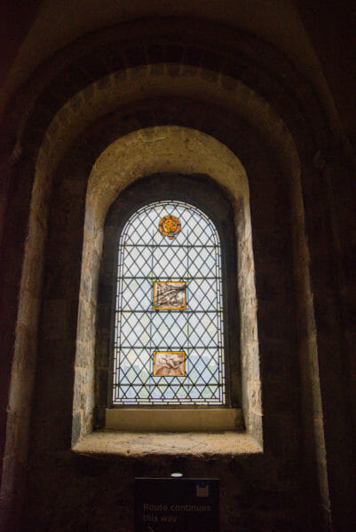 Decorative Medieval window in a chapel