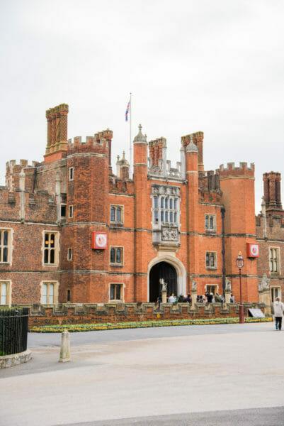 Front entrance to Hampton Court