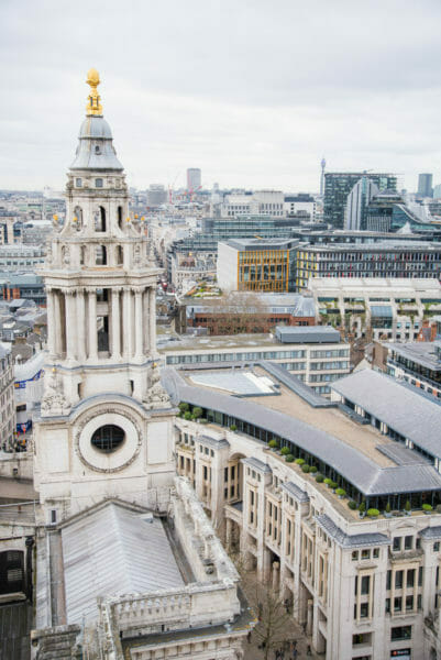 View of St. Paul's Cathedral tower from the roof