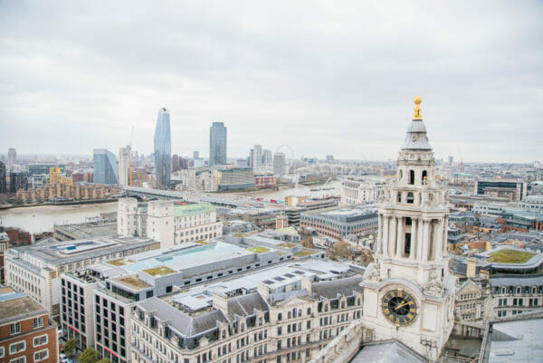 View of London from St. Paul's Cathedral roof