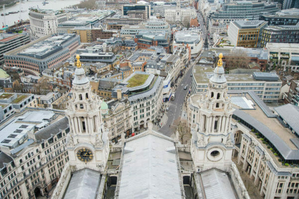 View of clock tower from St. Paul's Cathedral roof