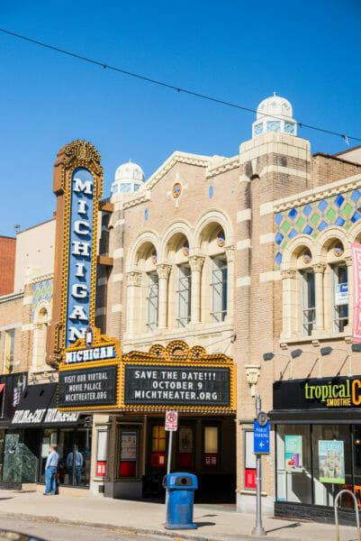 Historic Michigan Theater in Ann Arbor, Michigan