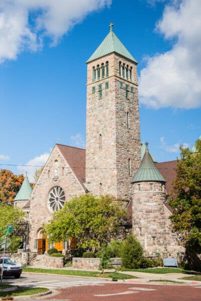 Historic stone church in Ann Arbor, Michigan