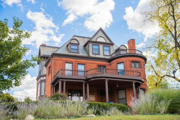 Victorian brick house in Ann Arbor, Michigan