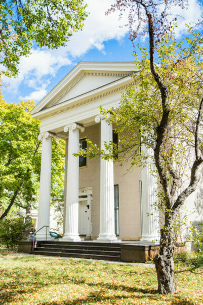 Mansion with columns in Ann Arbor, Michigan