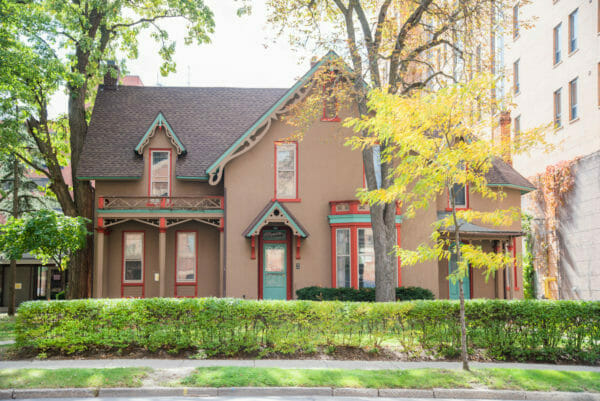 Gingerbread style house in Ann Arbor, Michigan