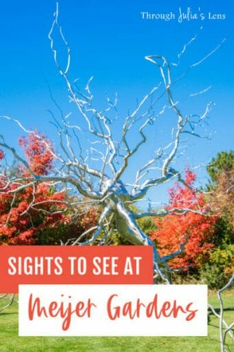 Beautiful Autumn Sights to See in Meijer Gardens in Grand Rapids