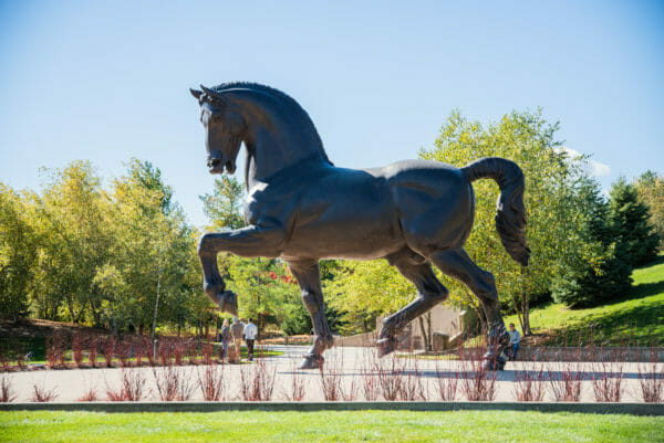 The American Horse statue at Meijer Gardens