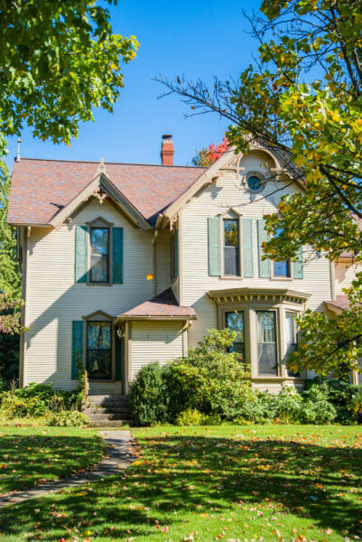 Victorian house at Robinette's Apple Haus in Grand Rapids, MI