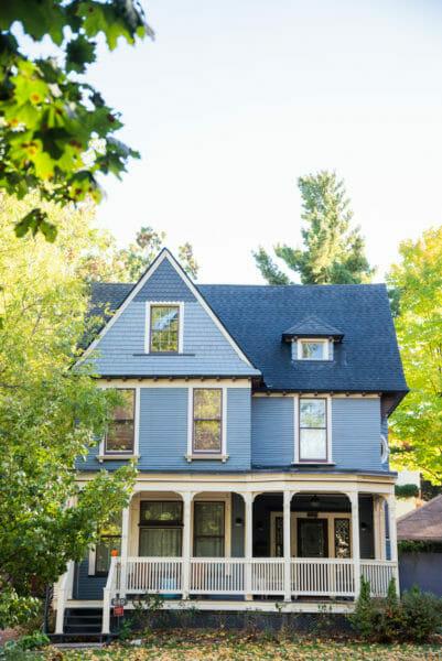 Blue Victorian house in Grand Rapids, MI