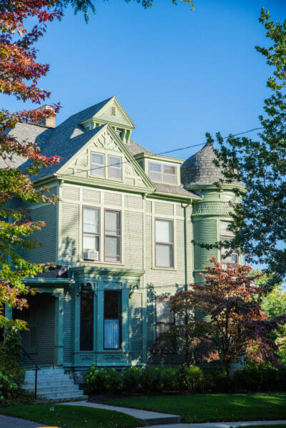 Green Victorian house in Grand Rapids, MI