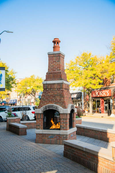 Brick firepit in downtown Holland, Michigan