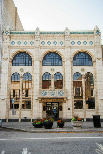 Art deco style building in Holland, Michigan